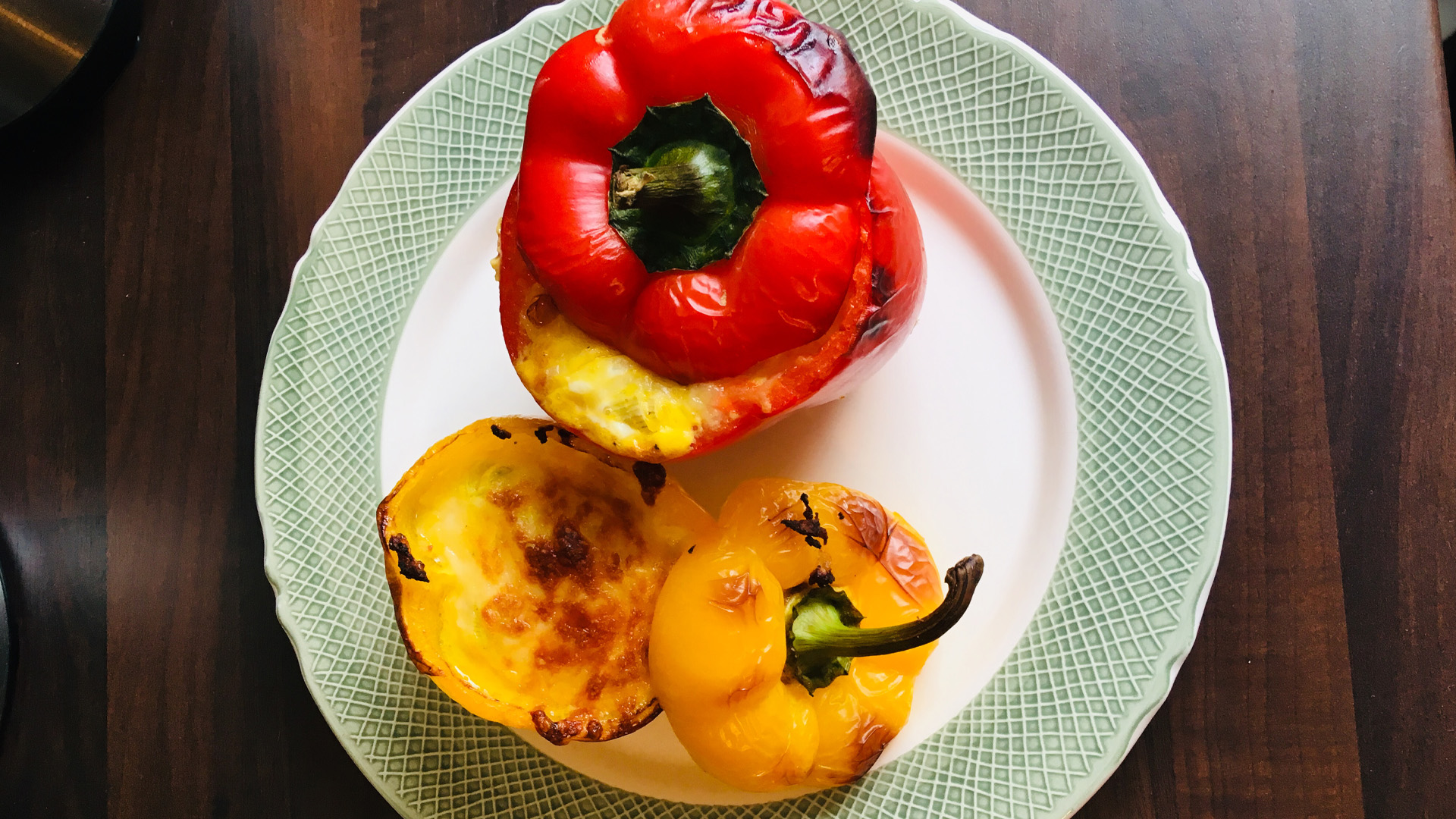Rezept - Ei in gegrillter Paprika